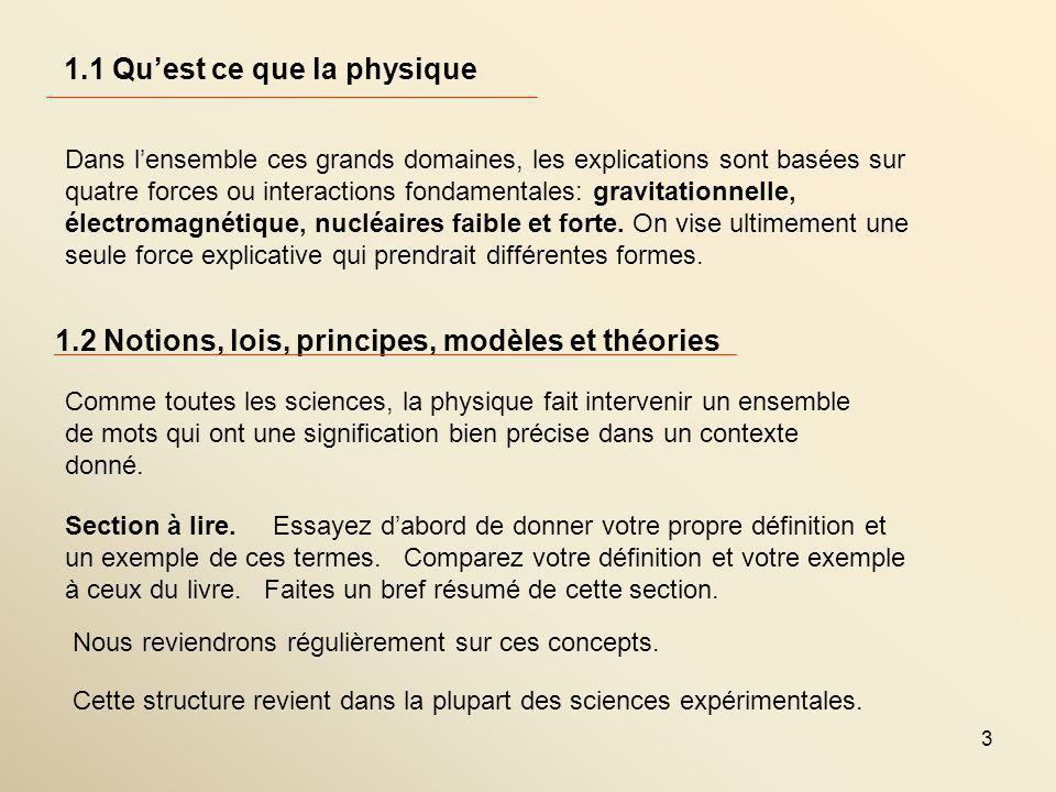 1.1 Qu'est ce que la physique