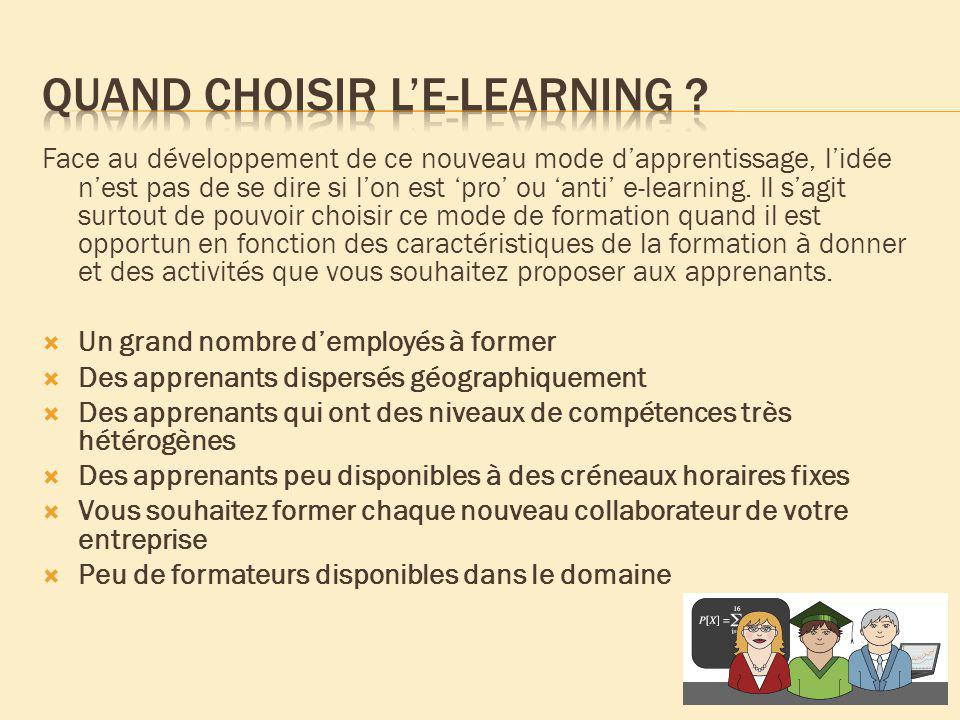 Quand choisir l'e-learning