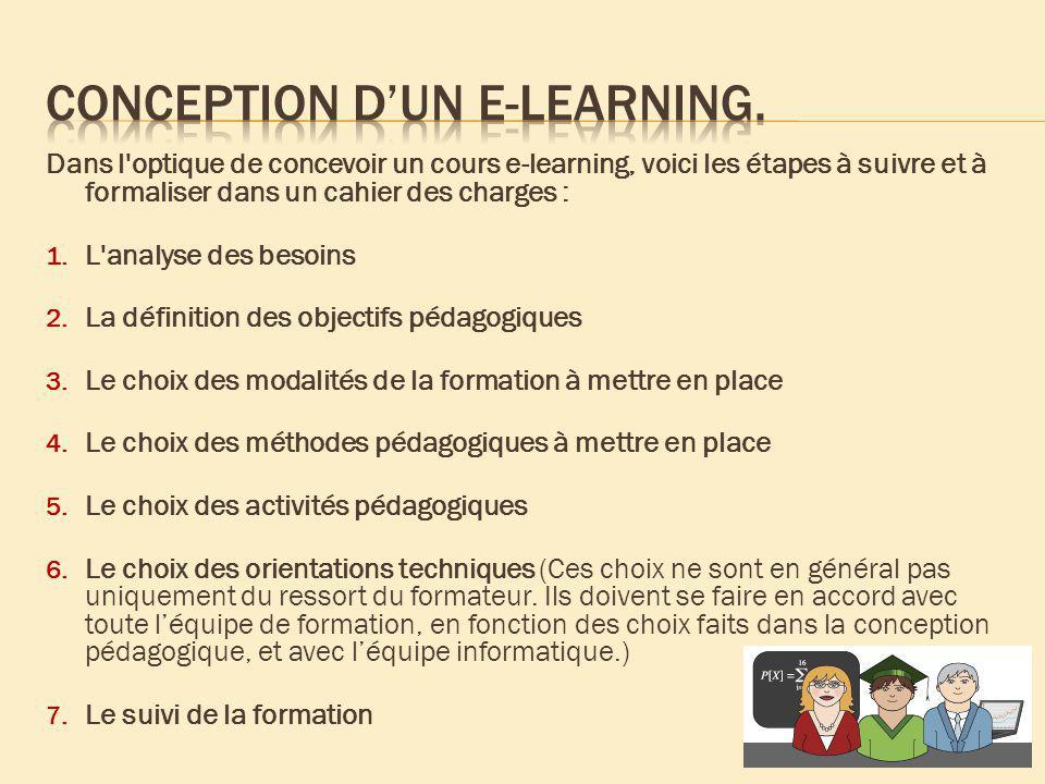 Conception d'un e-learning.