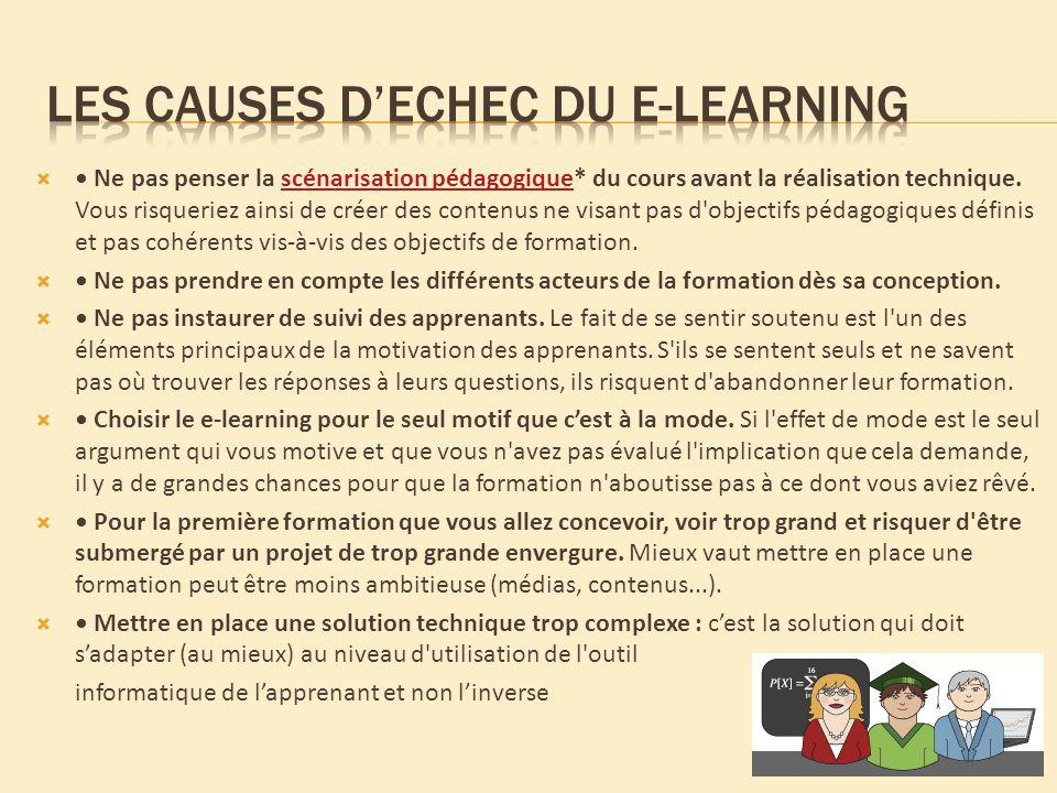 Les causes d'echec du e-learning