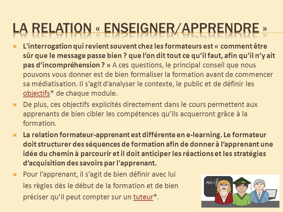 La relation « enseigner/apprendre »