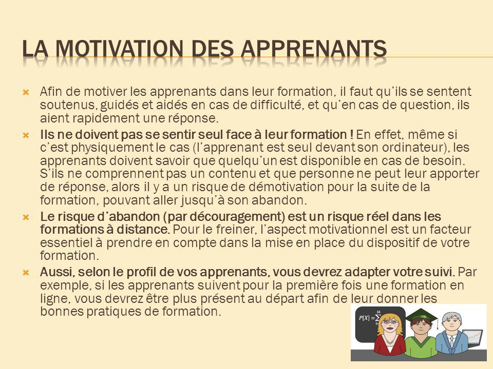 La motivation des apprenants
