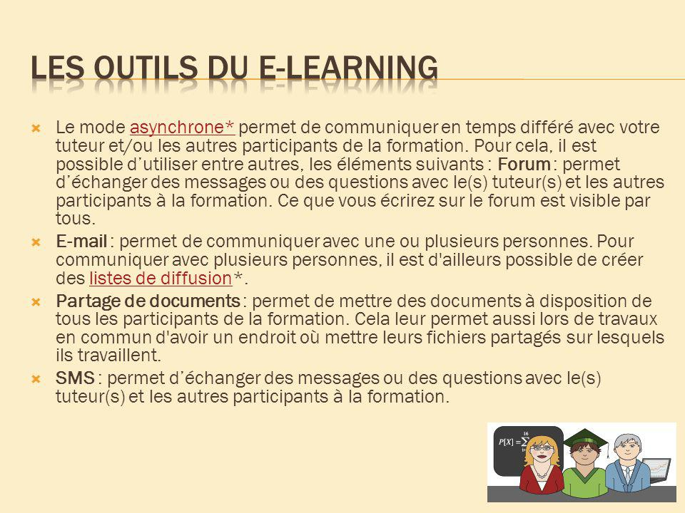 Les outils du e-learning