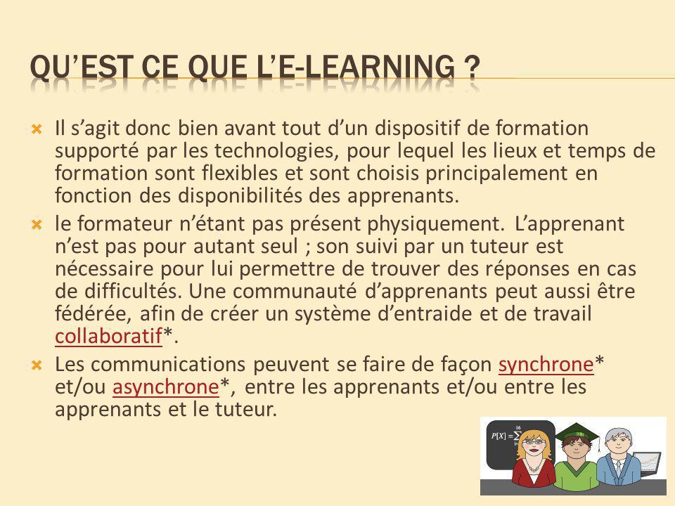 Qu'est ce que l'e-learning