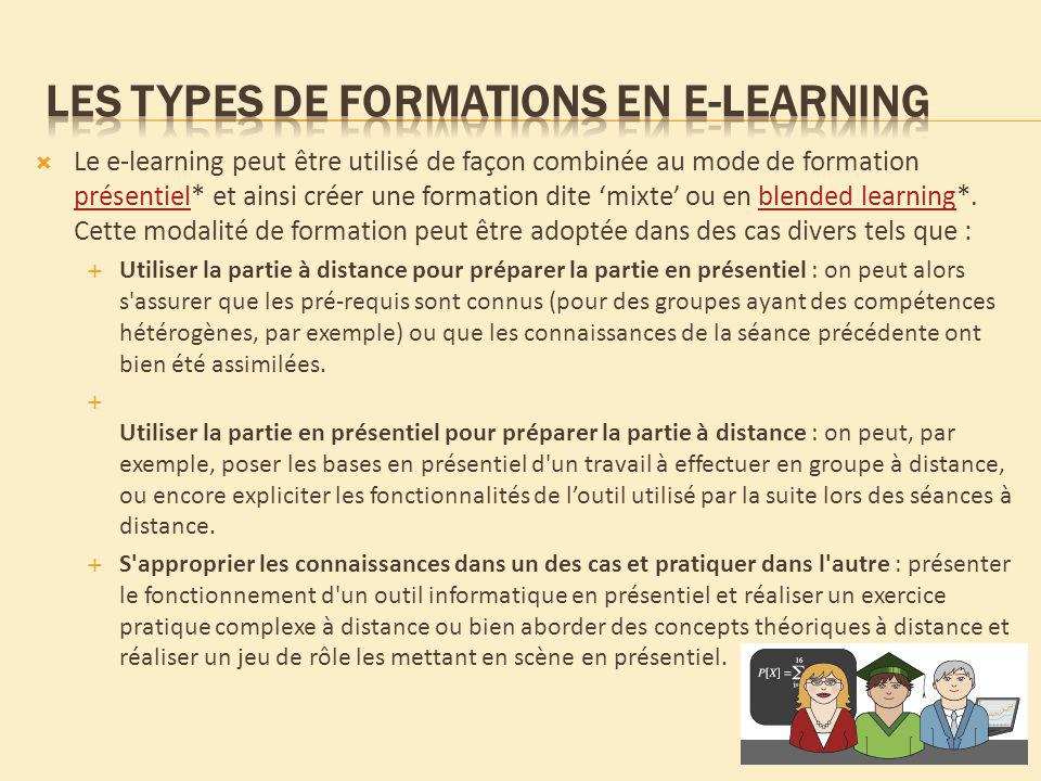 Les types de formations en e-learning