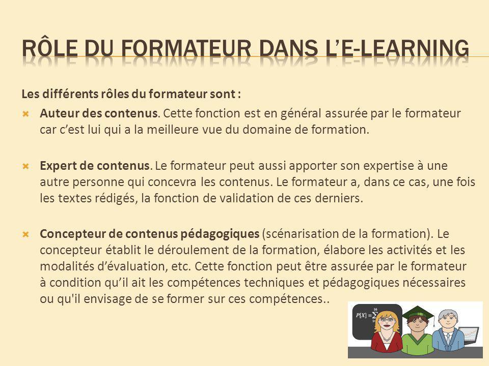 Rôle du formateur dans l'e-learning