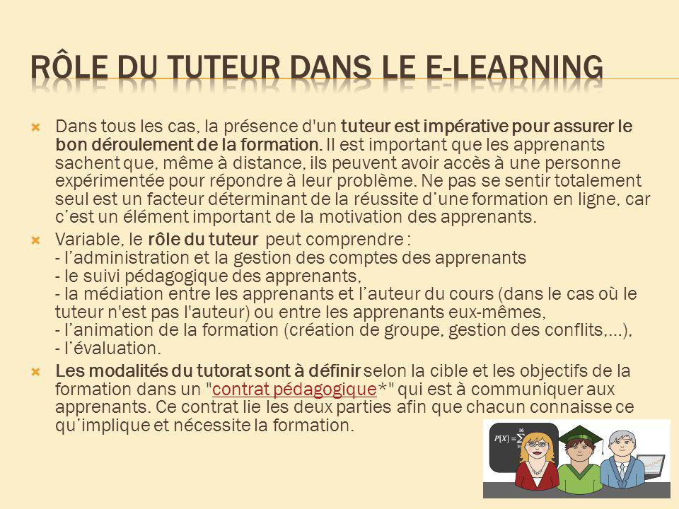 Rôle du tuteur dans le e-learning