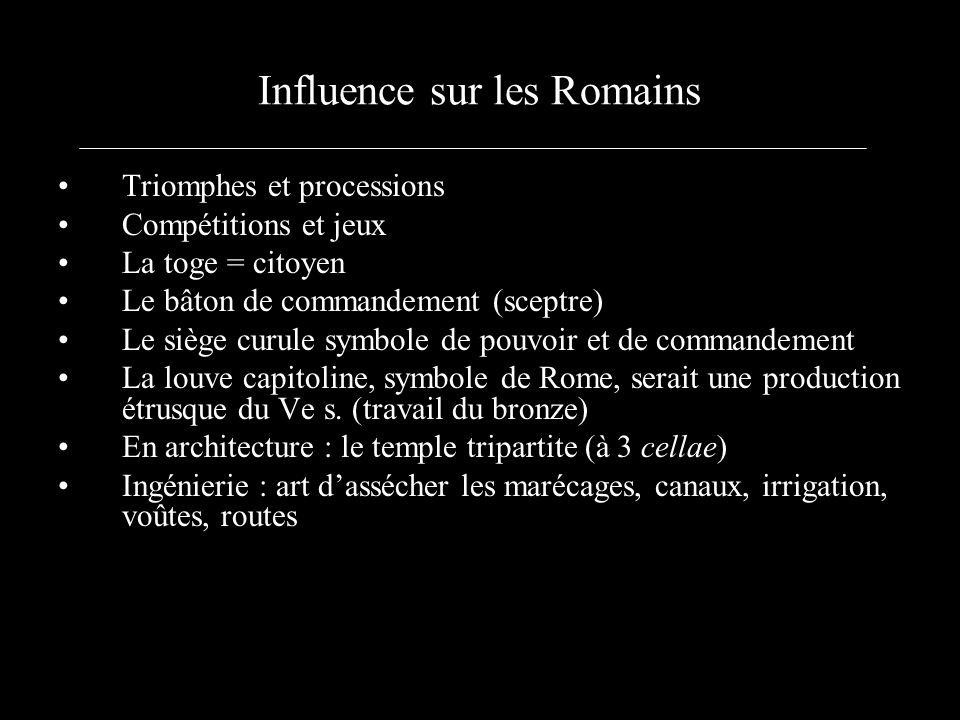 Influence sur les Romains