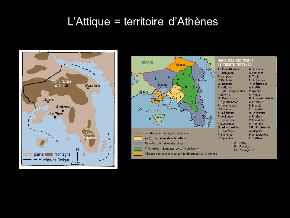 L'Attique = territoire d'Athènes