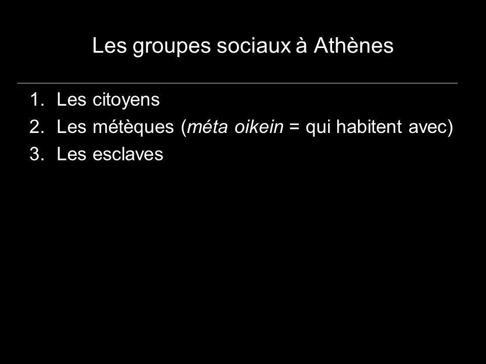 Les groupes sociaux à Athènes