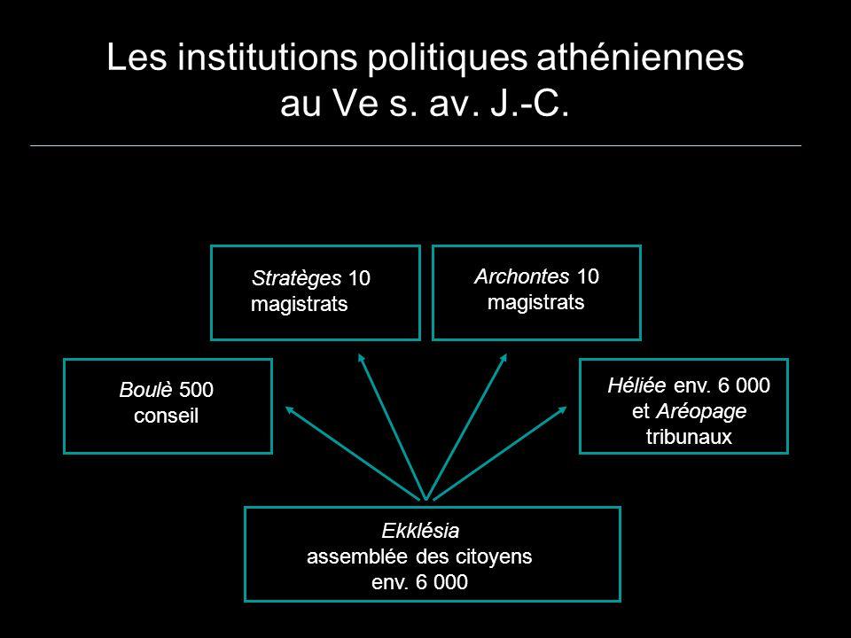 Les institutions politiques athéniennes au Ve s. av. J.-C.