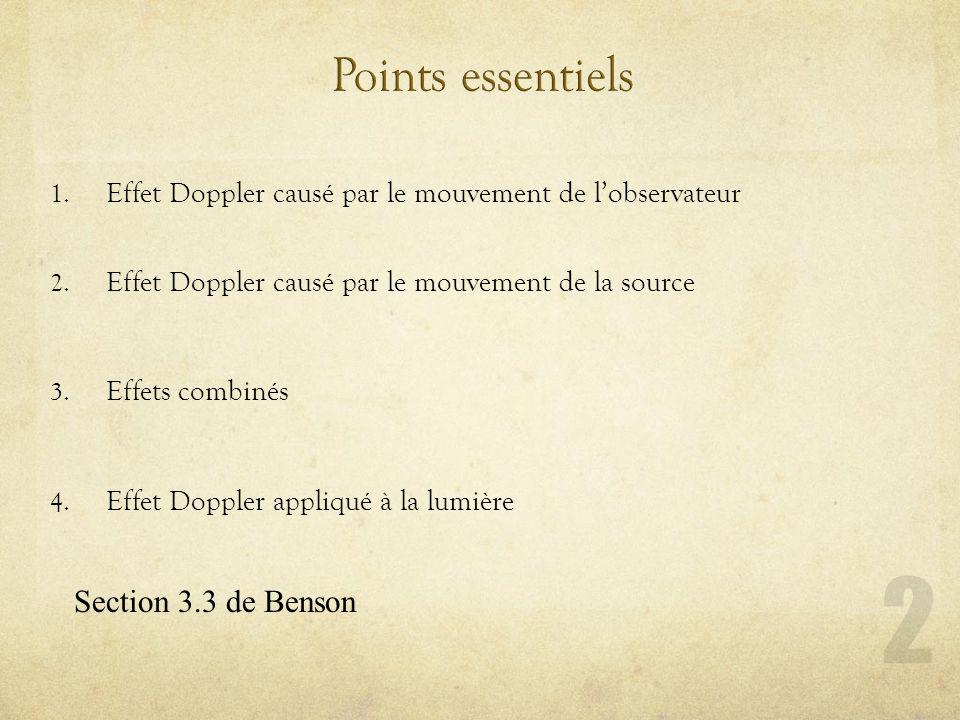 Points essentiels Section 3.3 de Benson
