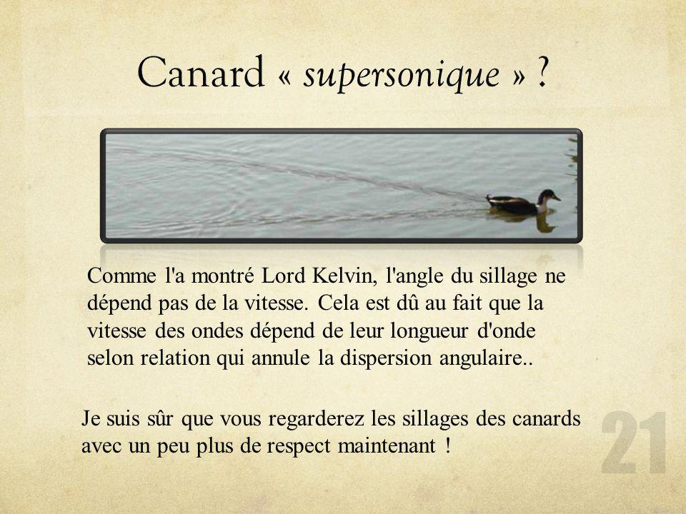 Canard « supersonique »