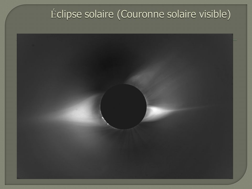 Éclipse solaire (Couronne solaire visible)