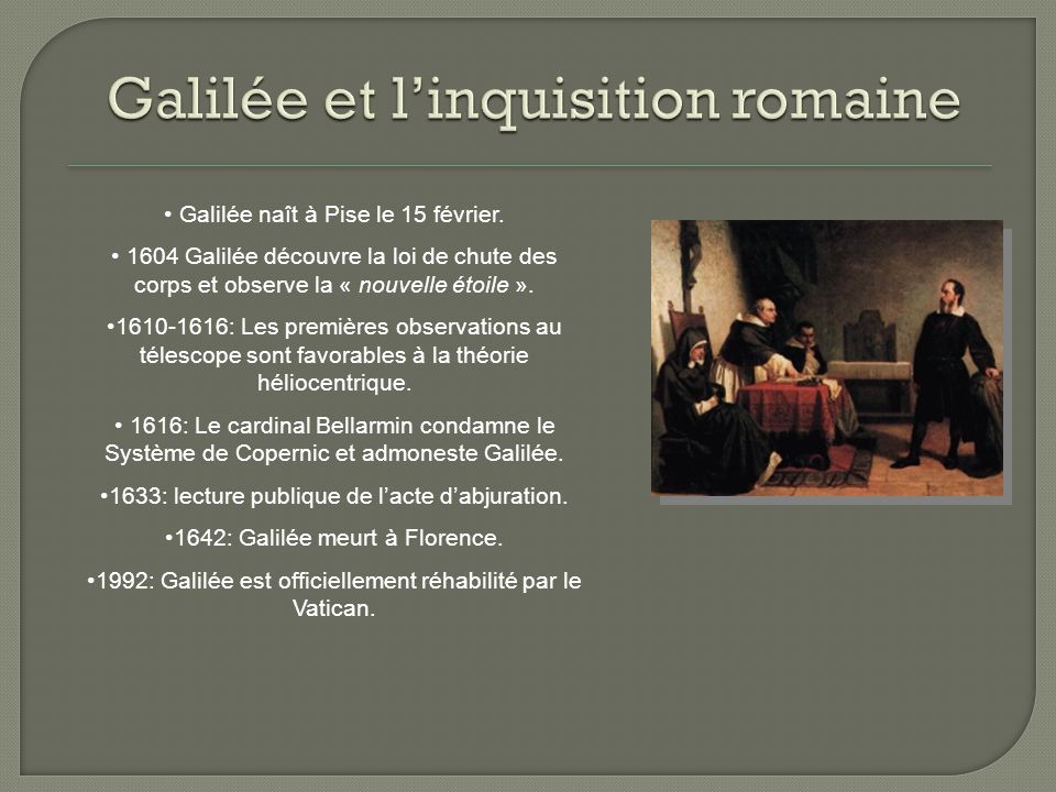 Galilée et l'inquisition romaine