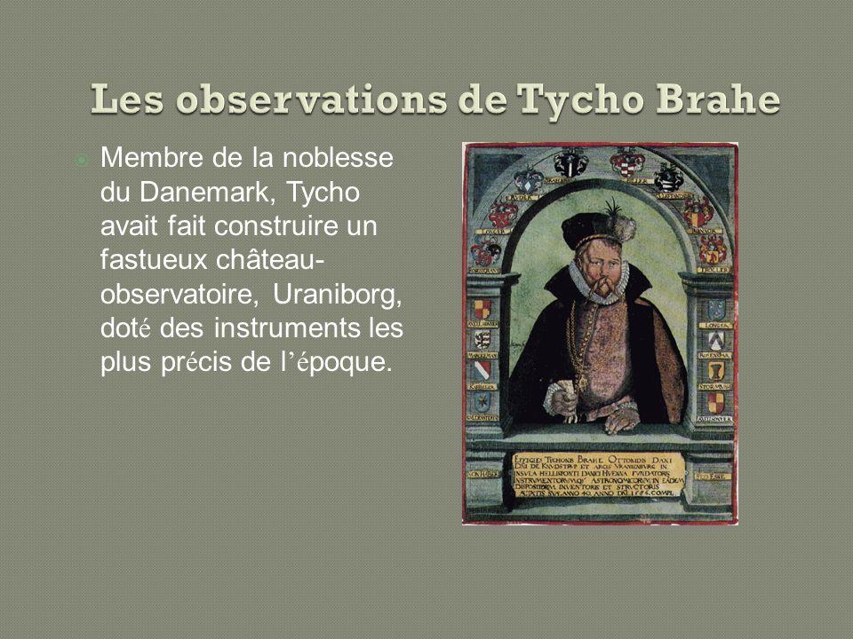 Les observations de Tycho Brahe