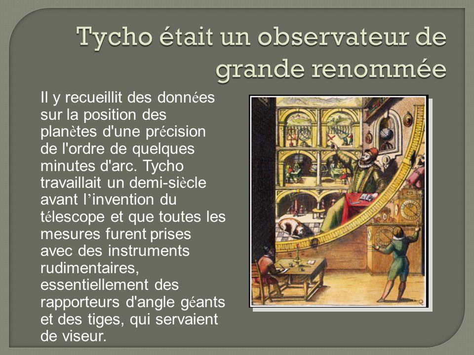 Tycho était un observateur de grande renommée
