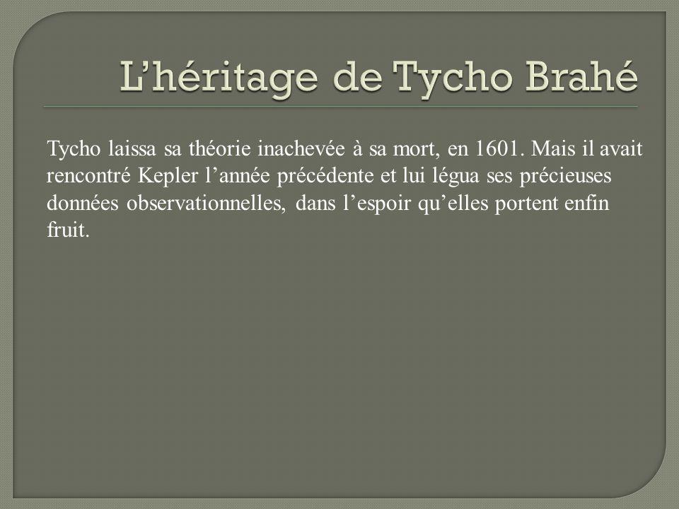 L'héritage de Tycho Brahé