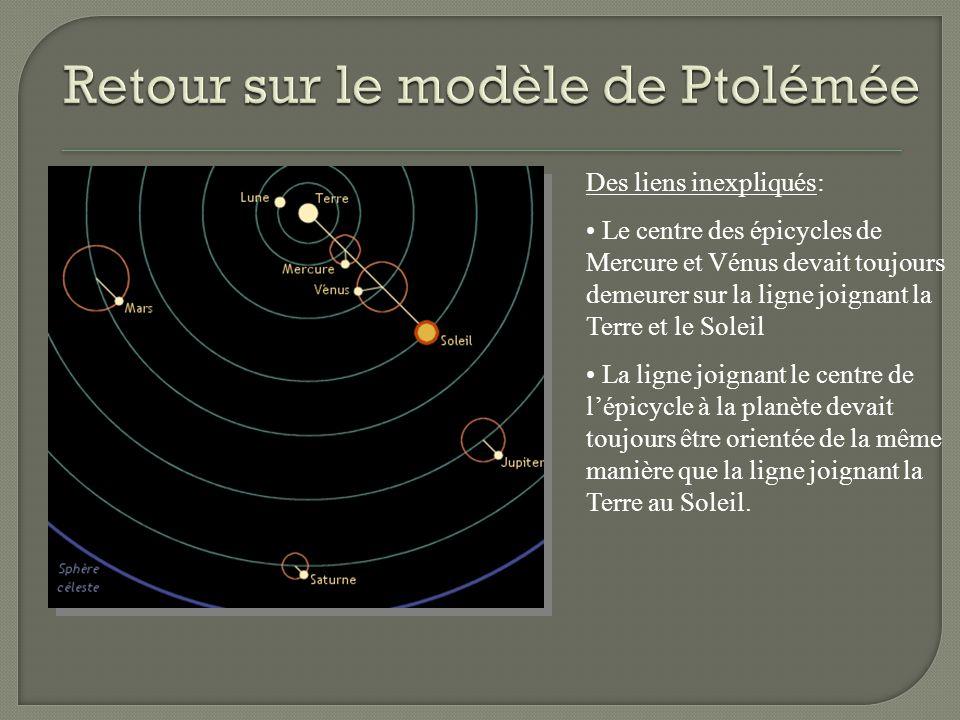 Retour sur le modèle de Ptolémée