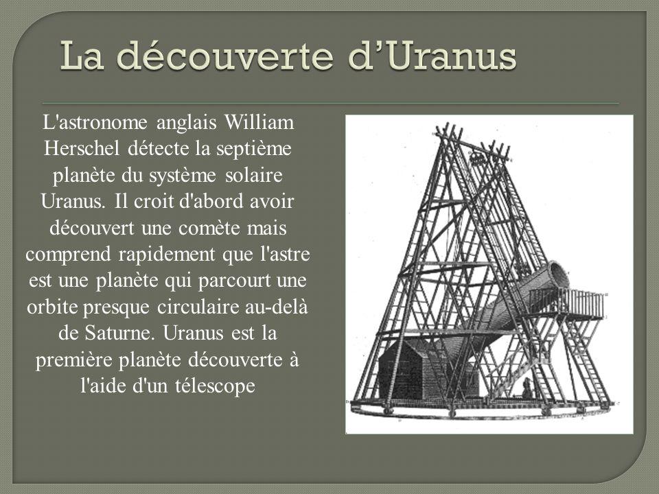 La découverte d'Uranus
