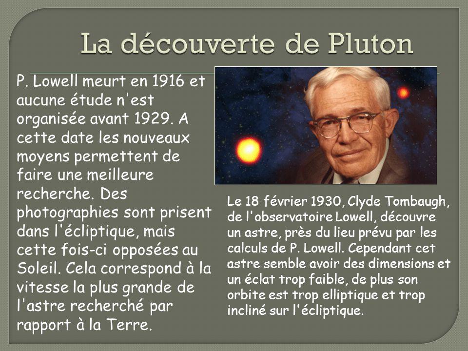 La découverte de Pluton