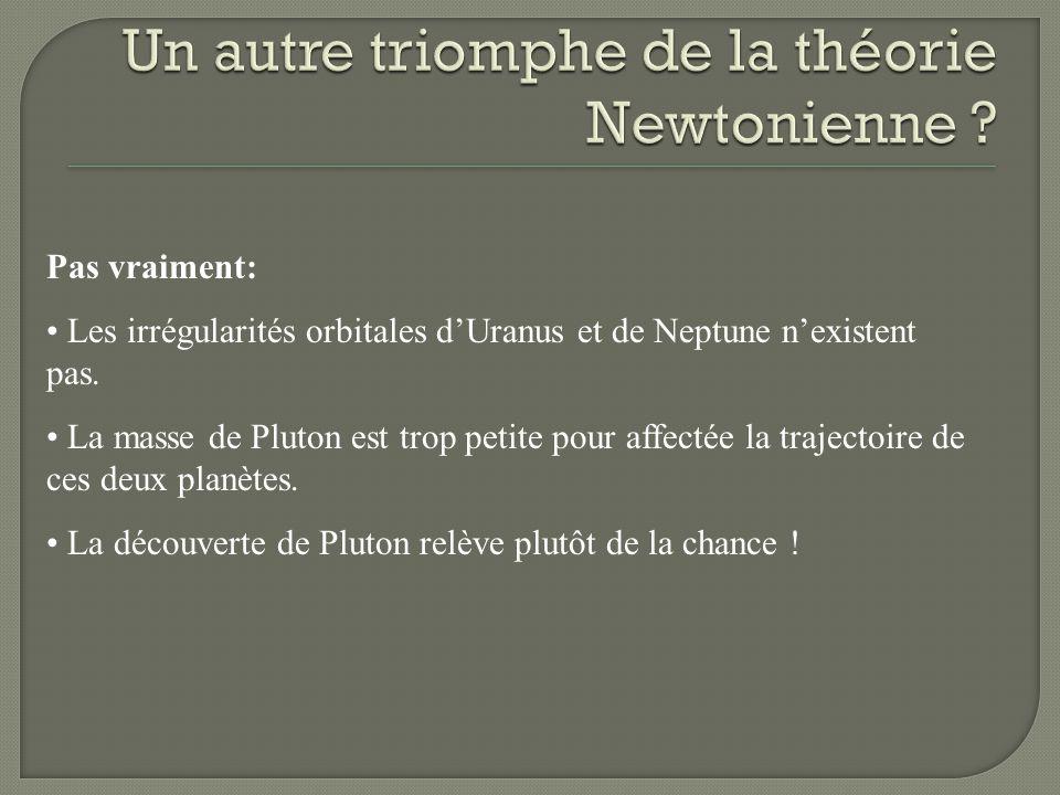 Un autre triomphe de la théorie Newtonienne