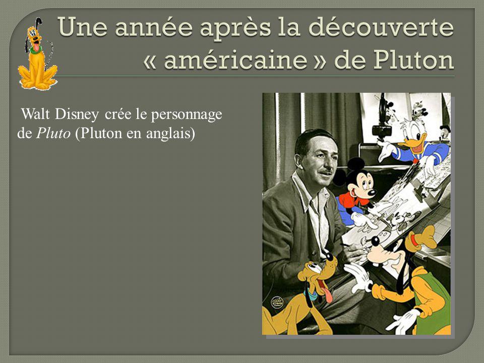 Une année après la découverte « américaine » de Pluton