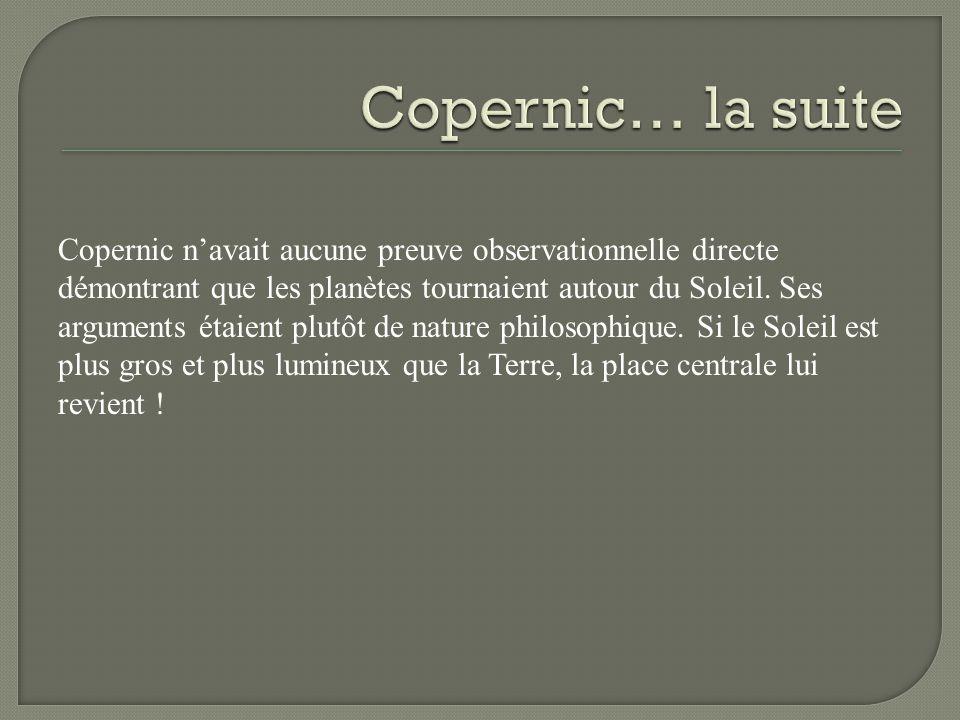 Copernic… la suite