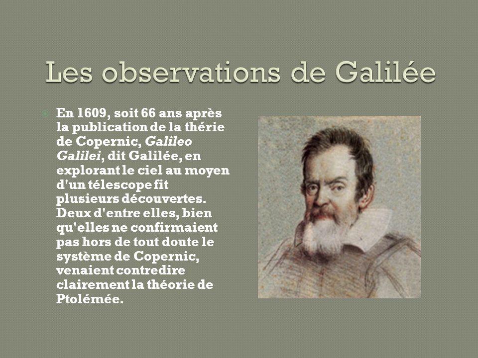 Les observations de Galilée
