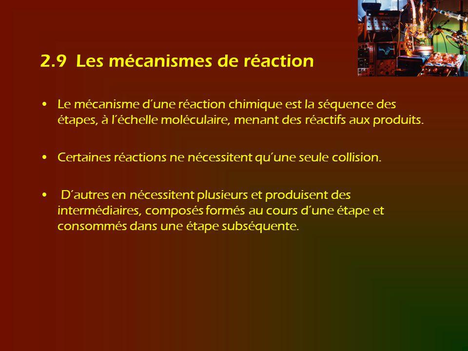 2.9 Les mécanismes de réaction