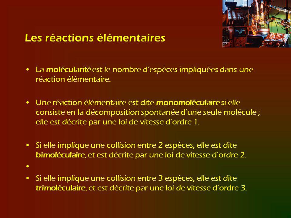 Les réactions élémentaires