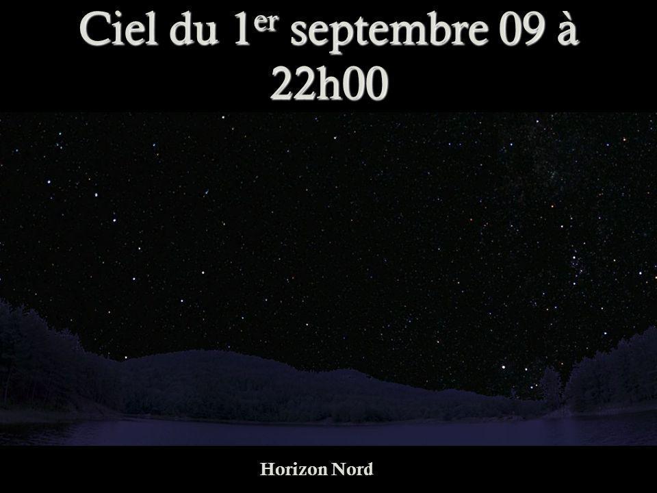Ciel du 1er septembre 09 à 22h00 Horizon Nord