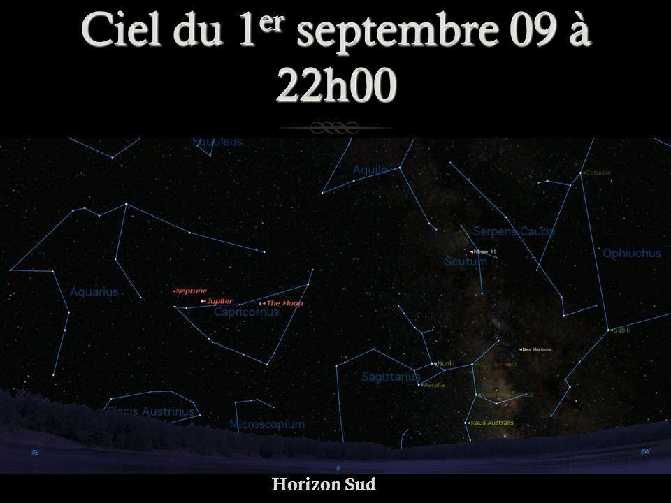 Ciel du 1er septembre 09 à 22h00 Horizon Sud
