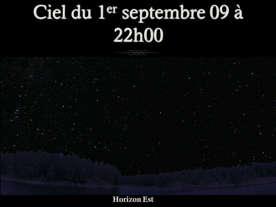 Ciel du 1er septembre 09 à 22h00 Horizon Est