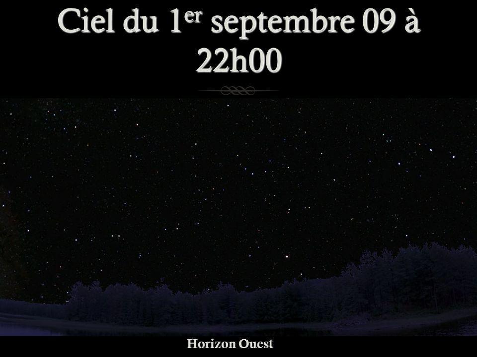 Ciel du 1er septembre 09 à 22h00 Horizon Ouest