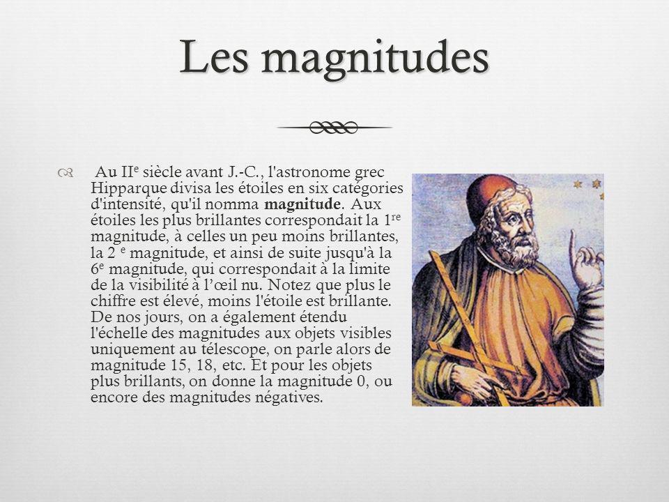 Les magnitudes