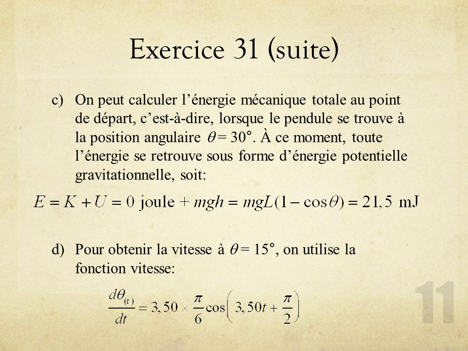 Exercice 31 (suite)