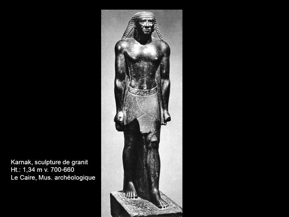 Karnak, sculpture de granit