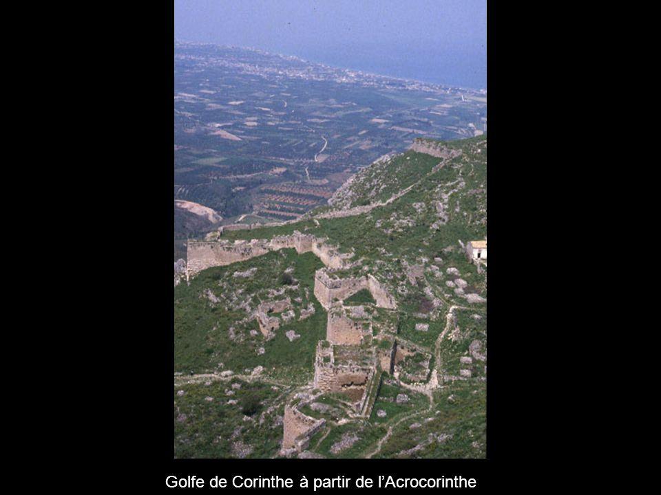 Golfe de Corinthe à partir de l'Acrocorinthe