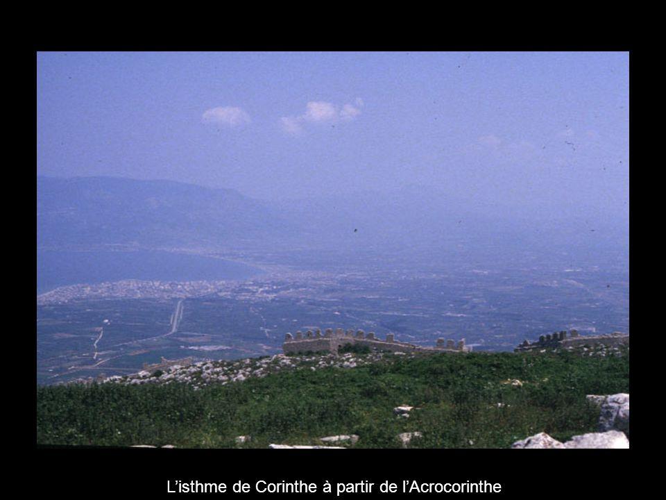 L'isthme de Corinthe à partir de l'Acrocorinthe