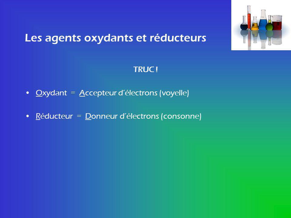 Les agents oxydants et réducteurs
