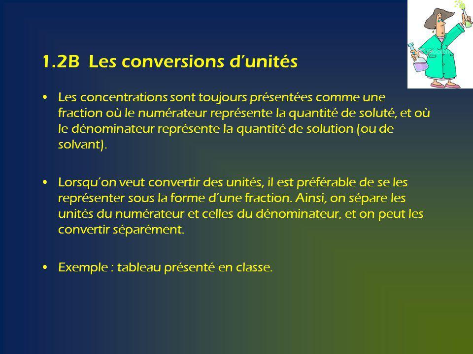 1.2B Les conversions d'unités