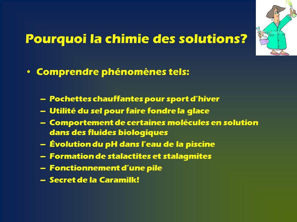 Pourquoi la chimie des solutions