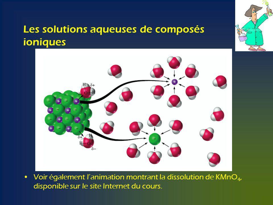 Les solutions aqueuses de composés ioniques