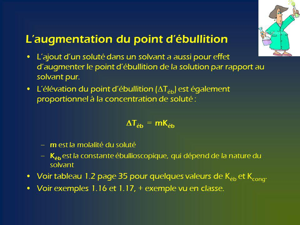 L'augmentation du point d'ébullition