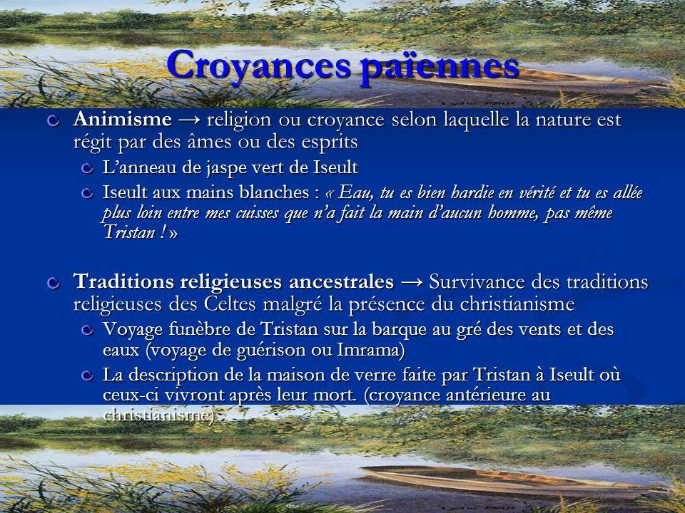 Croyances païennes Animisme → religion ou croyance selon laquelle la nature est régit par des âmes ou des esprits.