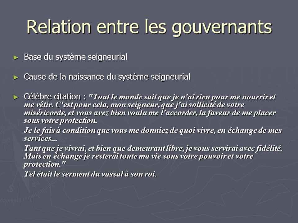 Relation entre les gouvernants