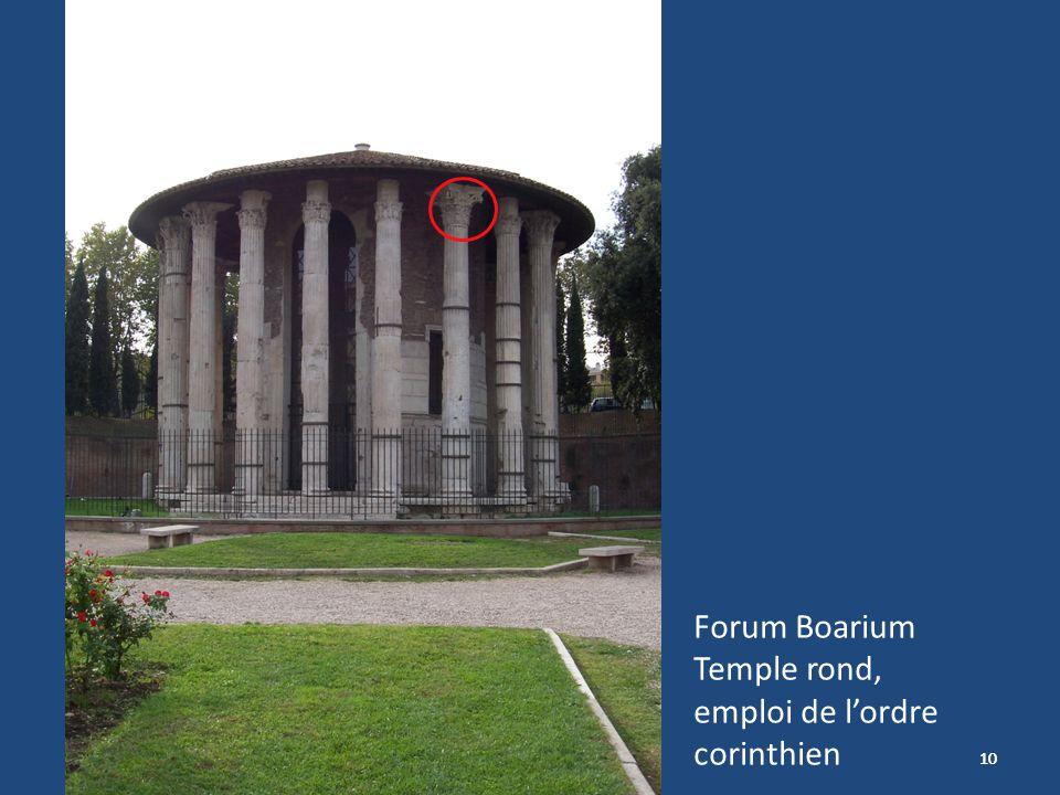 Forum Boarium Temple rond, emploi de l'ordre corinthien 10 10