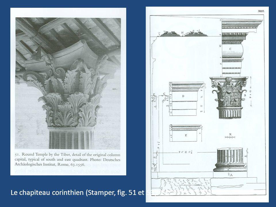 Le chapiteau corinthien (Stamper, fig. 51 et 53)