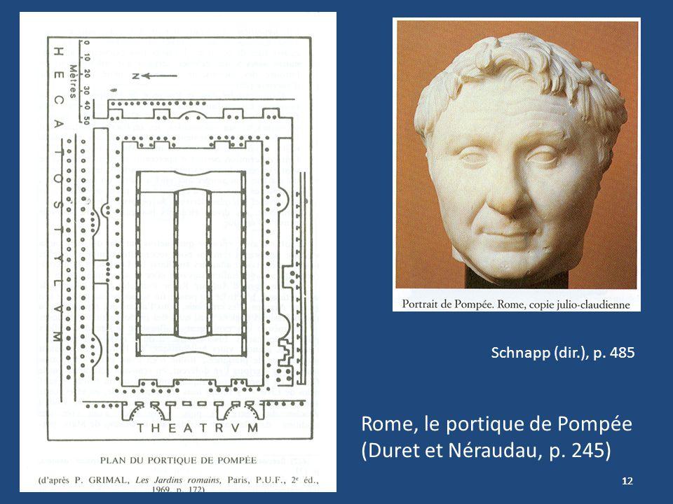Rome, le portique de Pompée (Duret et Néraudau, p. 245)